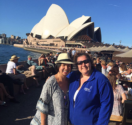 Jen and Peisia in Sydney, Australia